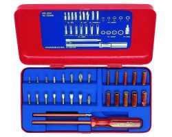"Bahco 6330M Electronics Socket Set, 28-Piece, 5/32"", Metal Box"