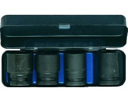 "Bahco K7801VM/S4 Impact Socket Set 1/2"", 4-Piece (17-24mm)"