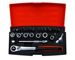"Bahco SL24 Socket Set 1/4"", 24-Piece"