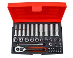 Bahco SL25L Socket Set 1/4 Std+Long
