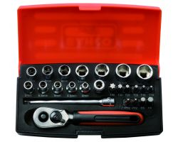 "Bahco SL25 Socket Set 1/4"", 25-Piece"
