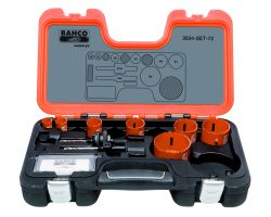 Bahco 3834-SET-72 Holesaw Set Bim 9 piece