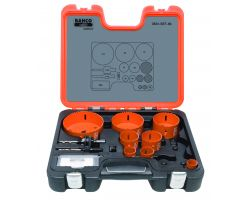 Bahco 3834-SET-86 Holesaw Set Bim 12 piece