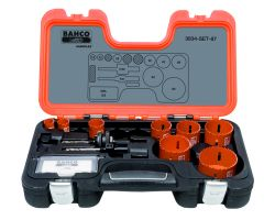 Bahco 3834-SET-87 Holesaw Set Bim 12 piece