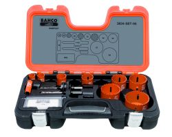 Bahco 3834-SET-95 Holesaw Set Bim 12 piece