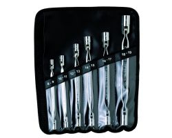 Bahco 4040M/6T Flex-Head Wrench Set, 6-Piece, In Wallet