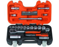 "Bahco S330 Socket Set 1/4""+3/8"", 34-Piece"