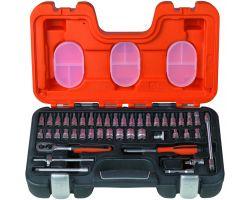 "Bahco S460 Socket Set 1/4"", 46-Piece"