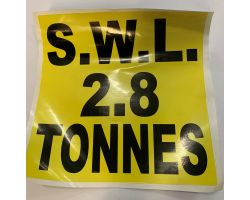 2.8ton Swl Sticker