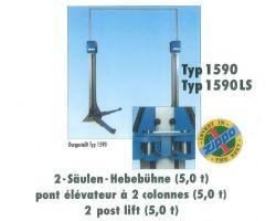 Pre-Owned Zippo 1590LS 2-Post Lift, 5 Tonne - 2002