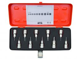 Bahco 7809TORX/10 Set of socket set drivers for TORX® and Phillips, 10 pcs