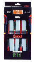 Bahco BE-9880SL ERGO™ Insulated screwdriver set with SLIM blades, 4 piecesSdr  Set Slim Blades, 4Pcs