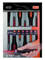 Bahco BE-9884S Insulated ERGO™ screwdrivers, 6 pcsAislo, Set6Pcs Sl,Pz,Combi