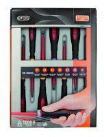 Bahco BE-9889S Insulated ERGO™ screwdrivers set, 7pcs Set 7 Pcs With Tester Pz
