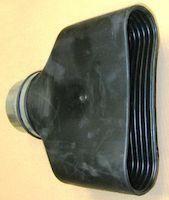 20867761 Exhaust Nozzle Rubber Oval 250 X 80mm L5