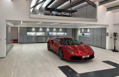 High Spec Home Car Garage supplied and fitted by Straightset