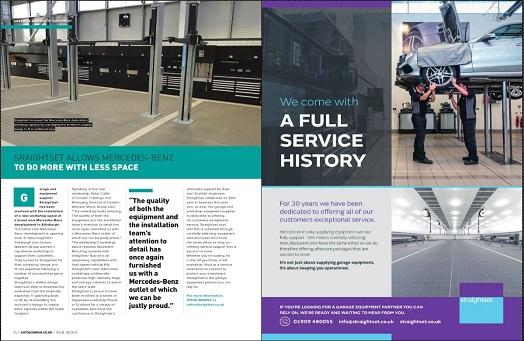 Straightset featured in Scotts Auto Scene - issue 150