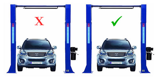 loading a vehicle lift safely