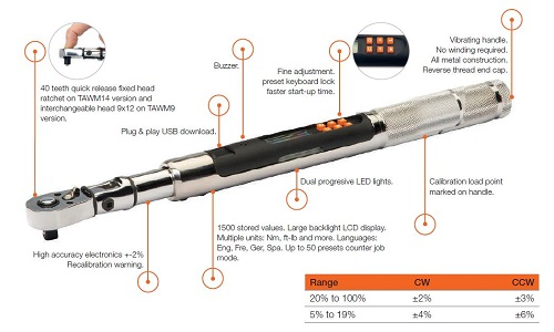 Bahco electronic torque wrench