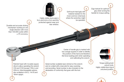 Bahco mechanical torque wrench